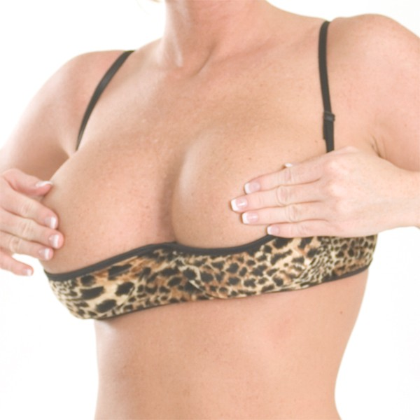 B11 Print half cup bra with adjustable straps and hook and eye closure in back