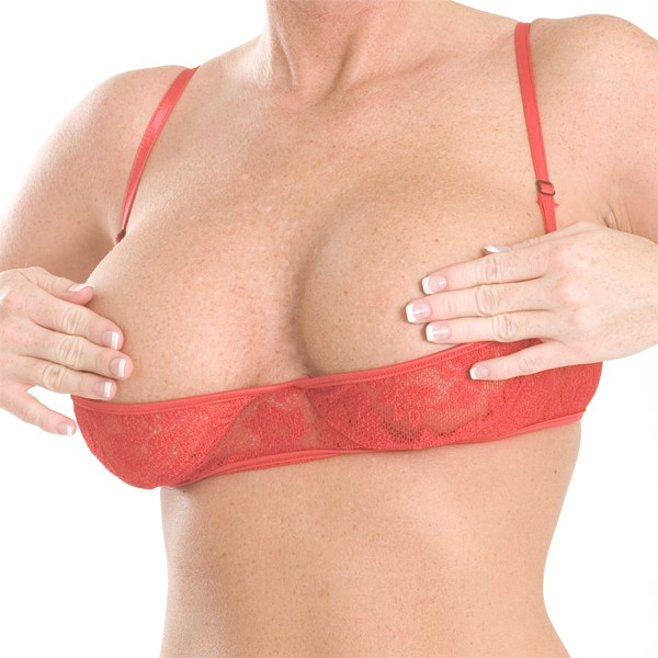 B13L Stretch Lace half cup bra with hook and eye closure in back and adjustable straps