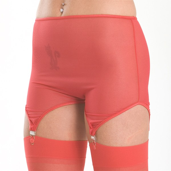GP1M Mesh crotchless garter panty with 4 garters