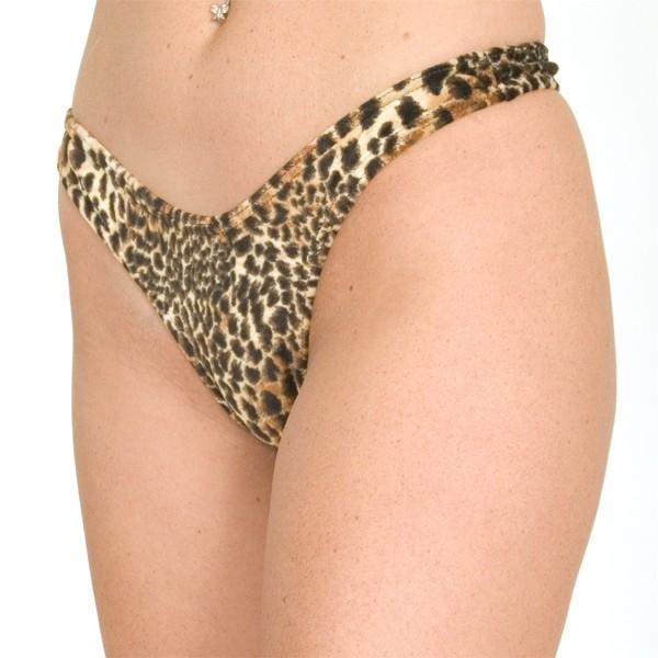 P10 Print crotchless thong panty
