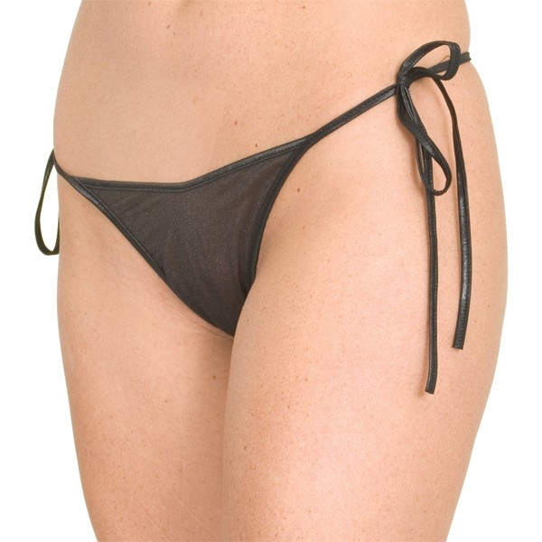 P38 Sheer tie side thong panty