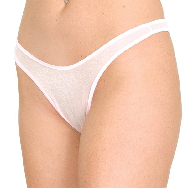 P8 Sheer crotchless thong panty