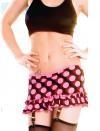 PD-SK111 Polka Dot skirt with ruffle on bottom and garters