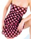 PD-D114 Polka Dot dress with wide ruffle on bottom