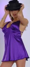 S-D3 Stretch Satin dress with plunge neck line.  Low cut back and adjustable straps.