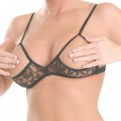 B26 Non stretch lace sling bra.