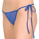 WL-P3 Wide Lace crotchless panty with tie sides
