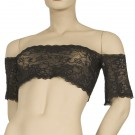 FL-T5-Lace crop top with drop sleeves
