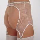 GB12 Fishnet garter belt with open back and 4 garters