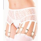 GB26 Lace garter belt with 10 garters and adjustable hook and eye closure in back.
