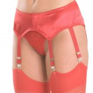GB5 Satin garter belt with 6 garters and hook and eye closure in back