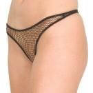 P32 Fishnet crotchless thong panty