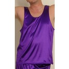 S-MT1-Stretch Satin tank top for men