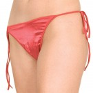 S-P3 Stretch satin tie side crotchless thong