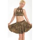 Sk10 Print circular skirt with waistband
