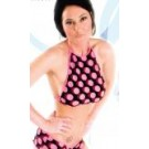 PD-T4 Polka Dot halter top